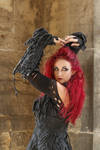 Stock - Gothic sorceress batcave back pose dark