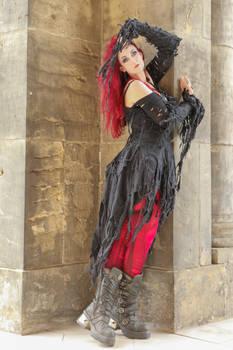 Stock - Gothic batcave woman shredded dress by S-T-A-R-gazer