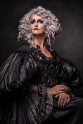 Stock - dark lady portrait pose classical baroque