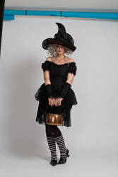 Stock - Halloween grey witch with a cauldron 13