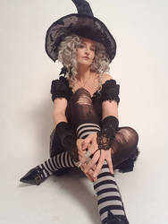 Stock - Halloween witch sitting pose 2