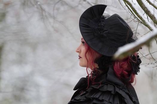 Stock - Victorian winter woman romantic portrait