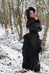 Stock - Victorian winter woman romantic side pose3 by S-T-A-R-gazer
