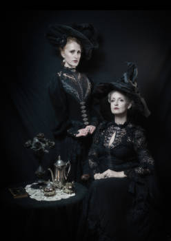 Stock - Halloween witches victorian style gothic