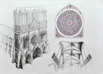 Reims Cathedral by z-innej-strony
