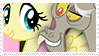 Fluttershy and Discord stamp by Sekhmettt