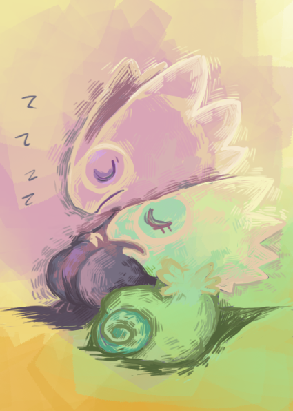 Sleeping kecleons by Erac