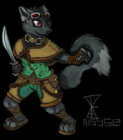 Sand warrior fox by Nsyse