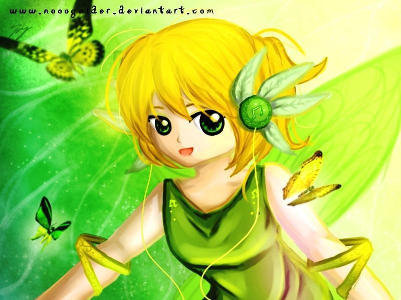 Green Feather Fairy By Noogaider On Deviantart