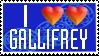 I Double Heart Gallifrey Stamp by PurpleAmharicCoffee