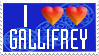 I Double Heart Gallifrey Stamp by PurpleAmharicCoffee