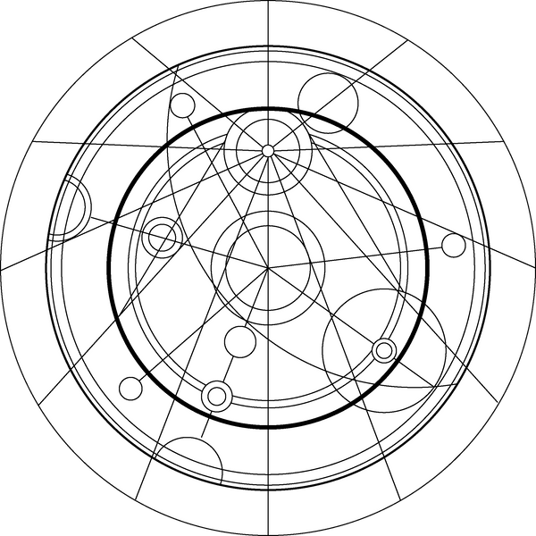 BBC Confession Dial Gallifreyan: Black and White by PurpleAmharicCoffee