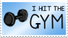 Gym Stamp by PurpleAmharicCoffee