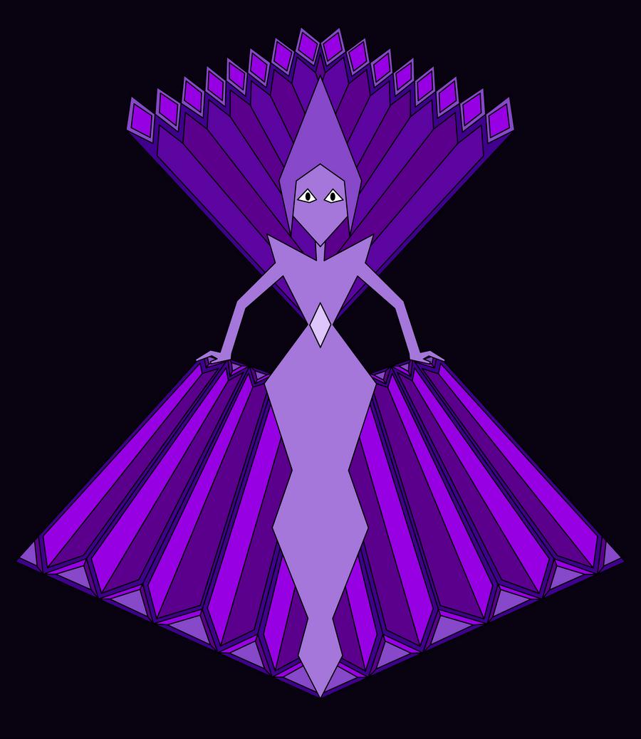 Purple diamond mural by purpleamhariccoffee on deviantart for Yellow diamond mural