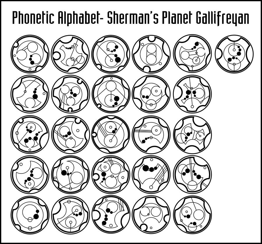 Sherman S Planet Gallifreyan Phonetic Alphabet By Purpleamhariccoffee On Deviantart