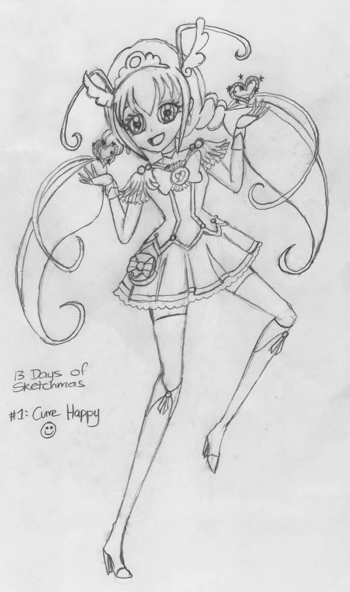 Sketchmas 1: Cure Happy by PurpleAmharicCoffee
