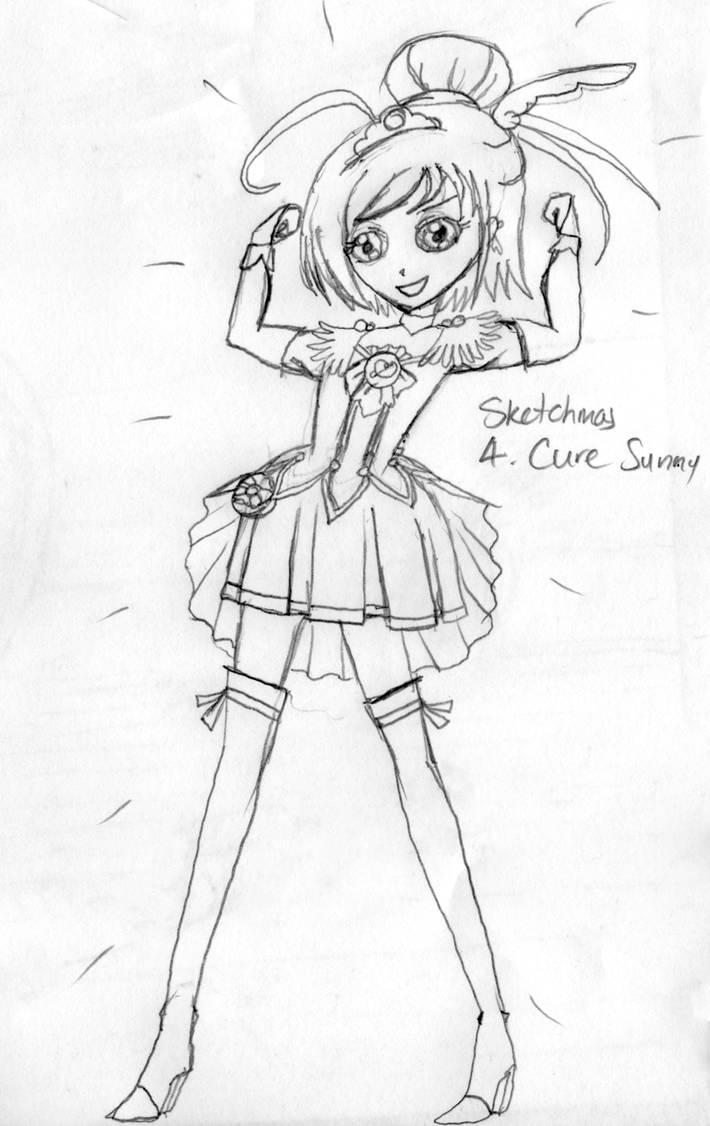 Sketchmas 4: Cure Sunny by PurpleAmharicCoffee