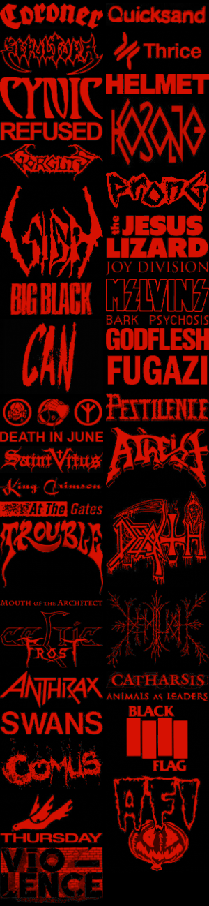 Top 40 most played bands for 3 months by Progamuffin