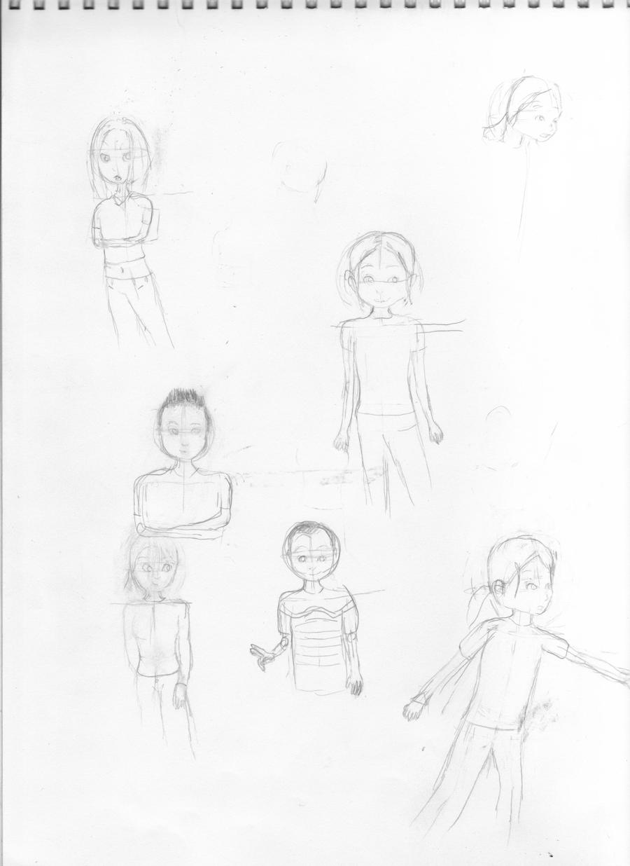 People Sketches by Progamuffin