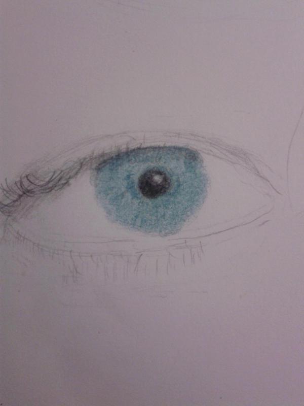 Shiny blue eye by Progamuffin