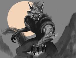 Sketch werewolf card by dante2906