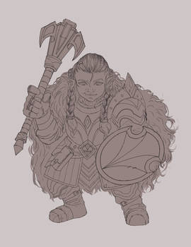 Dnd Commission: Gnome Cleric Line