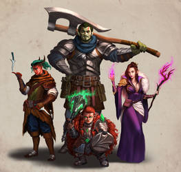 DnD Commission Classic party