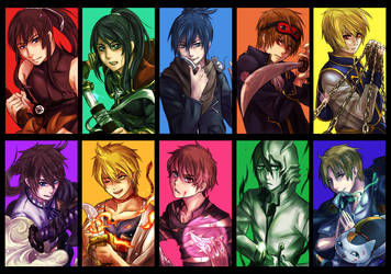 My 10 Favorite Male Characters by Cygnetzzz