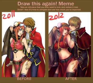 Draw OkiKagu again!! by Cygnetzzz