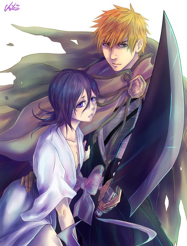 Rukia and Ichigo by Cygnetzzz