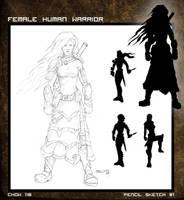 Female Warrior by deadinsane