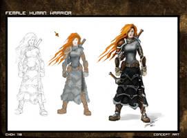 Female Warrior Steps by deadinsane