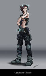 Cyberpunk Gunner