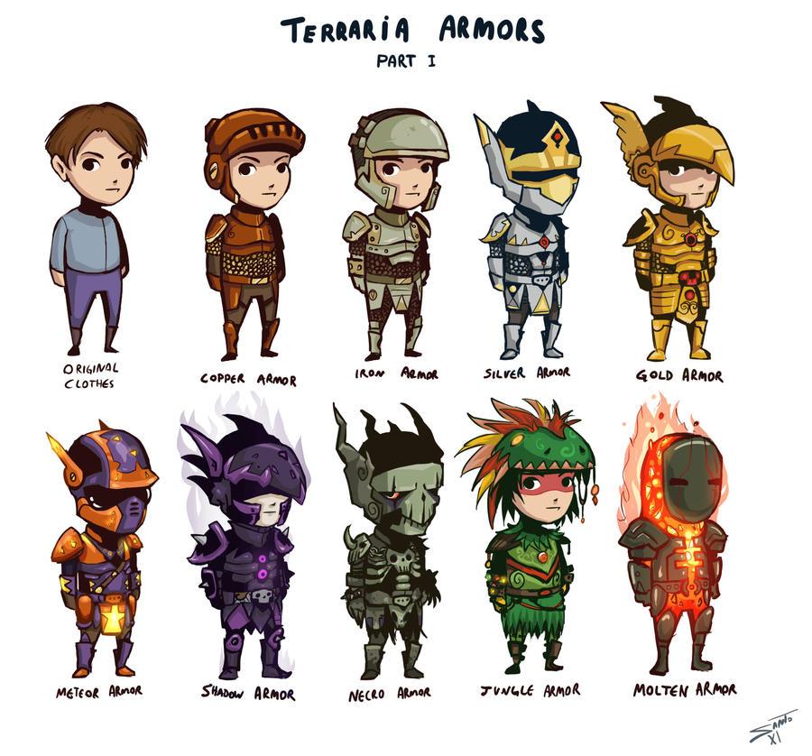 Terraria Armors by deadinsane