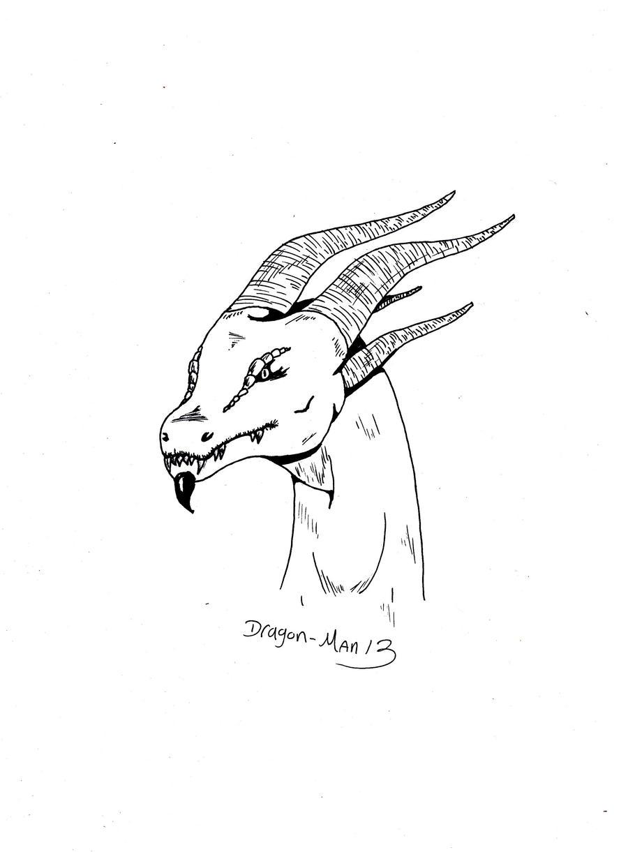 Dragon head simple by dragon man13 on deviantart dragon head simple by dragon man13 ccuart Images