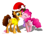 Pinkie and Cheese christmas kiss