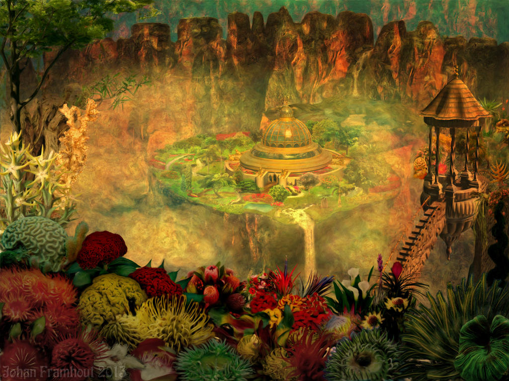 Hanging gardens of babylon by nahojis on deviantart for When was the hanging gardens of babylon destroyed