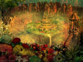 Hanging Gardens of Babylon by nahojis