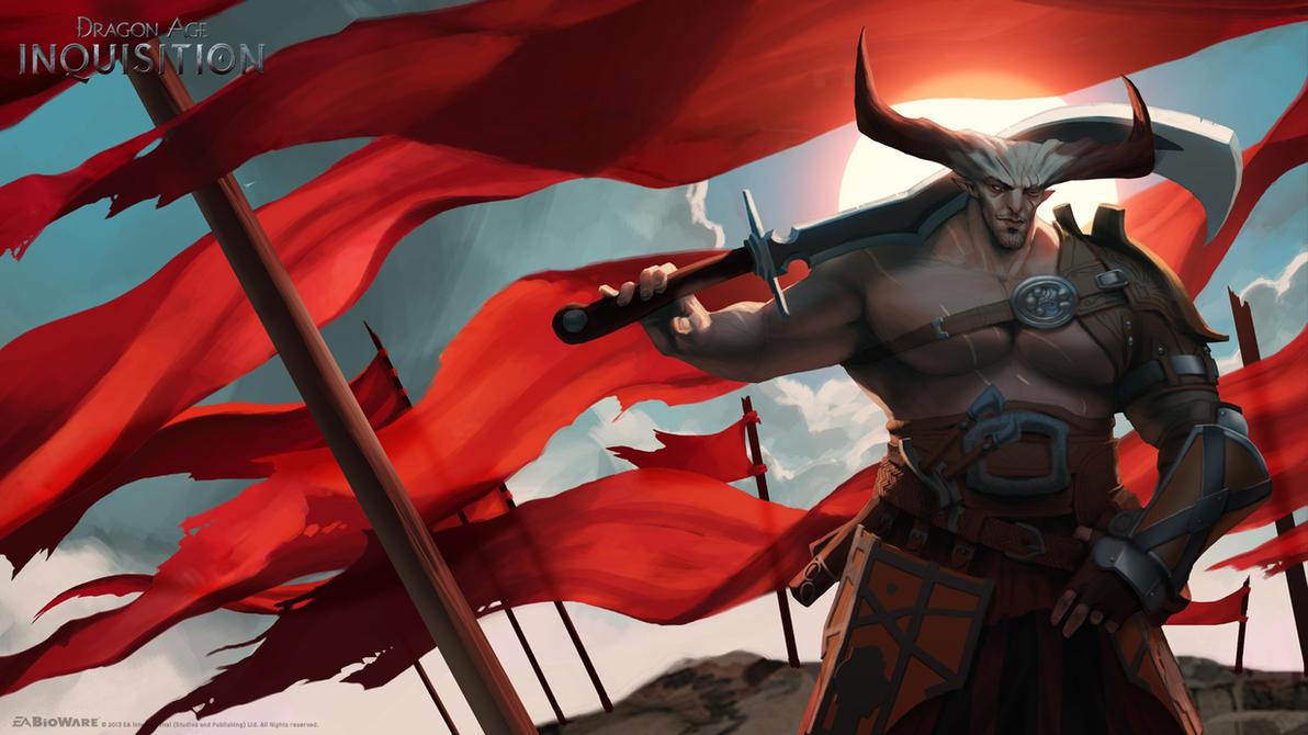 DA:I - Iron Bull by MattRhodesArt