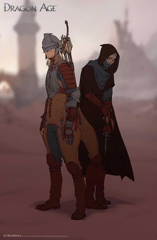 World of Thedas 2 - Garahel and Isseya by MattRhodesArt