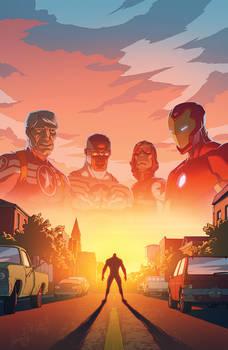 Variant cover for Marvel's Avengers Standoff