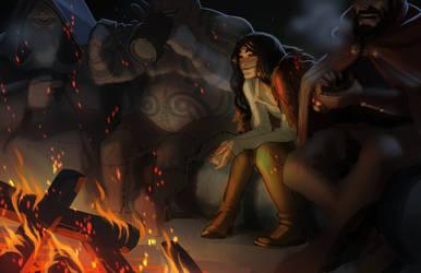 Fireside by MattRhodesArt