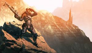 Rogue Shepard by MattRhodesArt