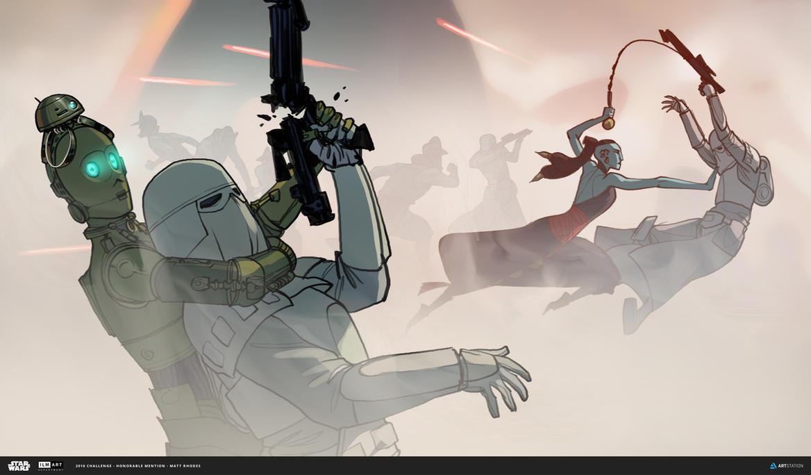 ILM Art Department Challenge: The Job - Combat by MattRhodesArt