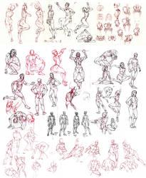 Novemeber Figure Studies by MattRhodesArt