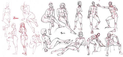 FigureStudies 01 by MattRhodesArt