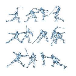Fencers by MattRhodesArt