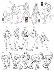 April figure studies 1 by MattRhodesArt