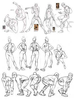 April figure studies 1 by MattRhodesArt