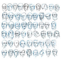 Random face studies
